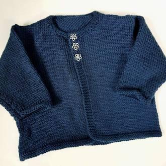 Merino Baby Knit Cardigan - Navy