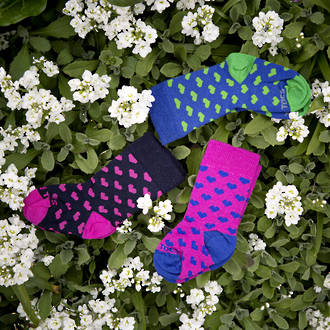 Long Merino Heart Baby Socks