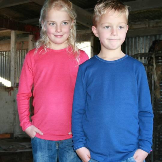 Kids Merino Long Sleeve Outerwear Top