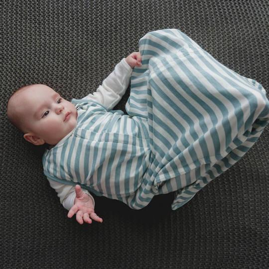 3 Seasons Merino Organic Cotton Sleeping Bag - 3-24 months. Tide