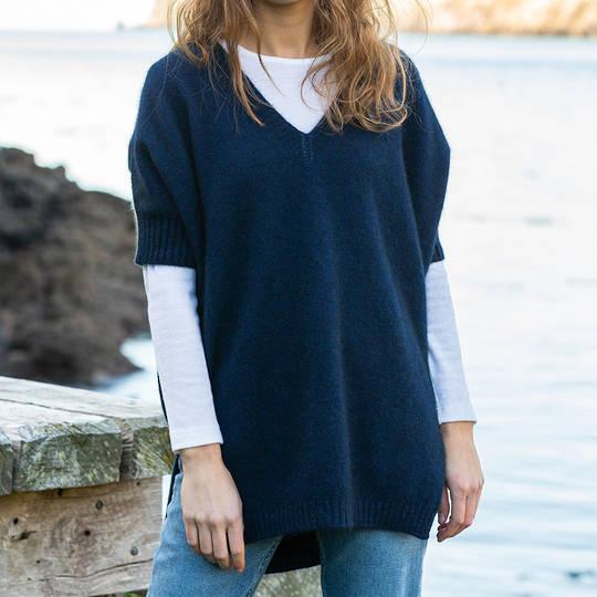 Possum Merino Women's Sleeved Cape - one size