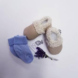 Baby Lambs Wool Booties - Oma Rapeiti
