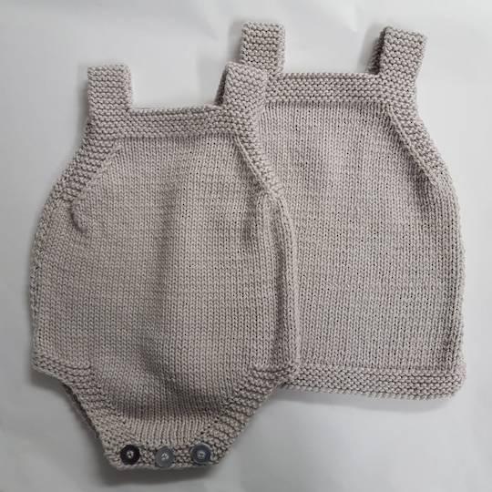 Merino Romper and Merino Pinafore Dress - 3 months.