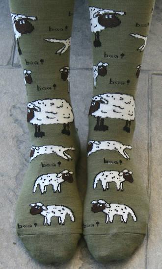 Farm Animal Merino Socks - cows & sheep
