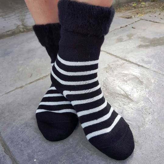 Slipper Sock or Bed Sock - Unisex - one size fits all.