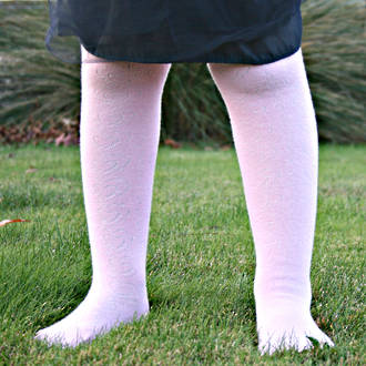 Cotton Tights - Textured Heart