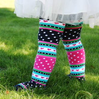 Cotton Tights - Stripes, Dots, Hearts.