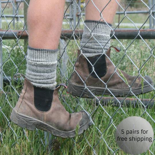 Merino Work Socks - Unisex. Free Bag with Purchase!