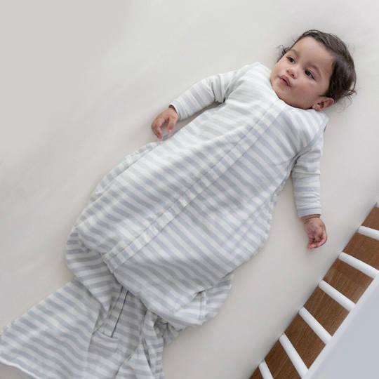3 Seasons Merino Organic Cotton Sleeping Bag - 3-24 months. Pebble