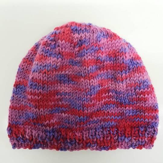 Children's Woolly Hat - pink/blue