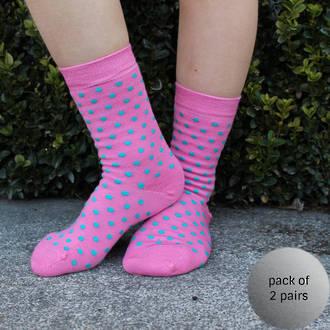Merino Socks - Rose Dot