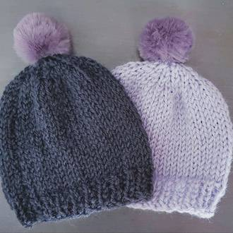 Merino Baby Hat with Pom Pom