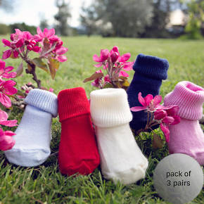Merino Baby Sock - Turn Over Top