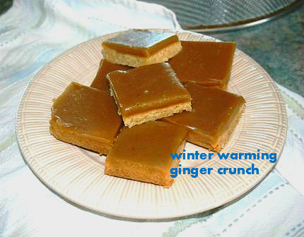 Winter warmer recipe ginger crunch cosy toes