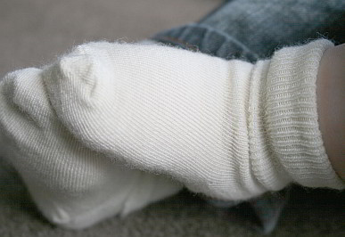 Merino Wool Baby Ankle Socks White