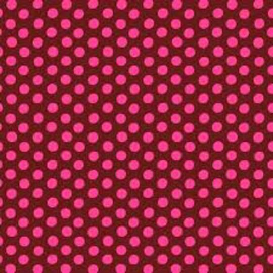 Fabric-Kaffe Dots - Merlot