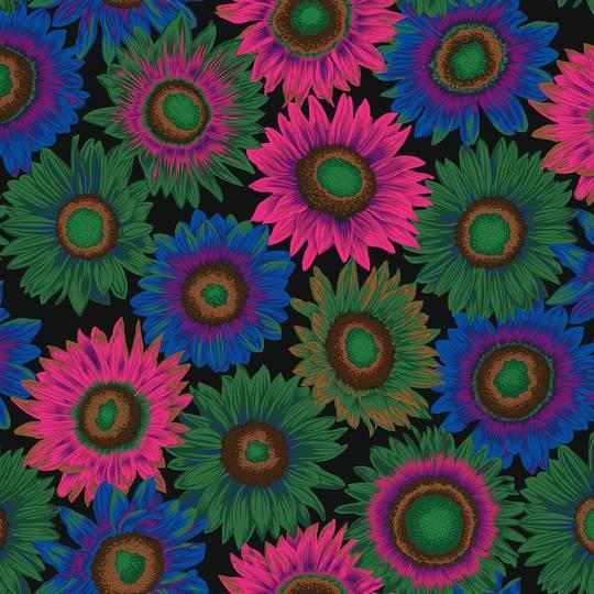 Fabric-Kaffe-Van Gogh-Dark
