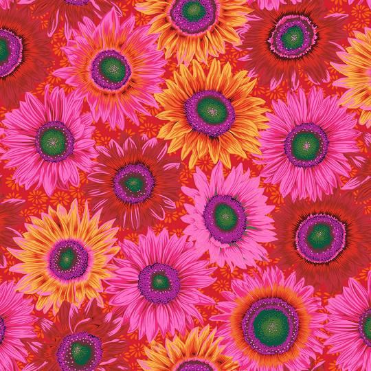 Fabric-Kaffe-Van Gogh-Red