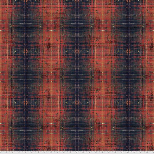 Fabric- Tim Holtz- Abandoned2 . Rust