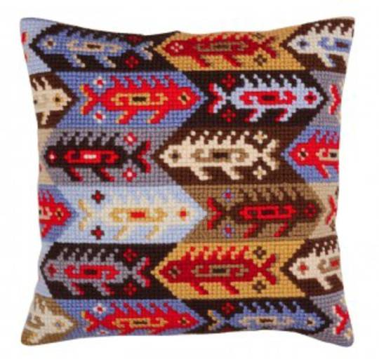 Tapestry Cushion Kit-  Ornament -Fish