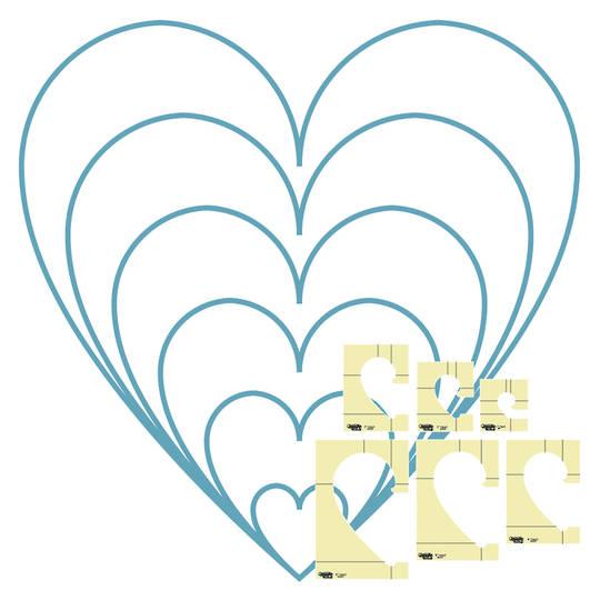Westalee Heart 6Pce