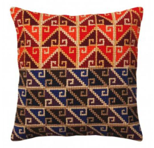 Tapestry Cushion Kit- Peruvian Ornament 5371