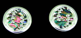 CL3 Silver Fern and Paua Cufflinks