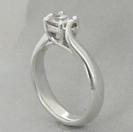 R292 Diamond Set Koru  Engagement Ring
