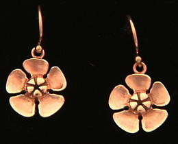 E16 Large Rose Gold Ti Tree earrings