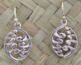 E21 Silver Fern Earrings in Rose Gold