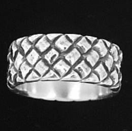 Heavy Silver Woven Band
