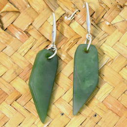 Greenstone Toki Drop earrings.