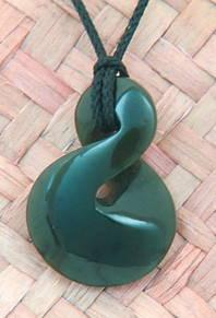 NZ Greenstone or pounamu with a Single Twist