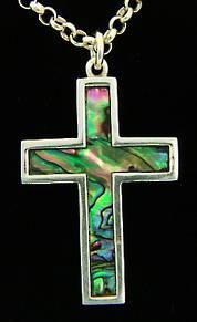 P55 Sil Paua Cross