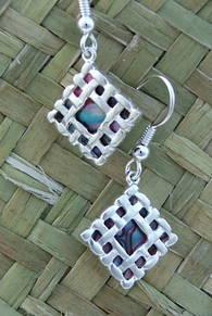 E2 Woven Square Earring