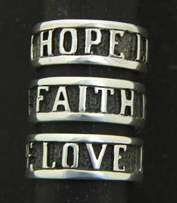 Love Faith and Hope Ring