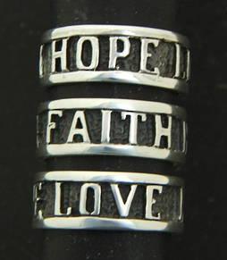 Love Faith and Hope Ring