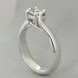 R292 Diamond Set Koru  Engagement Ring