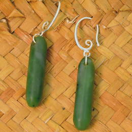 Greenstone Drop earrings.