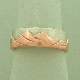"""The Coromandel"" in Rose Gold and Stg. Silver"