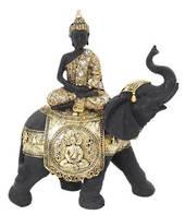 Gold Rulai Buddha on Elephant