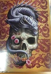 Chinese Dragon on Sugar Skull Gift Card