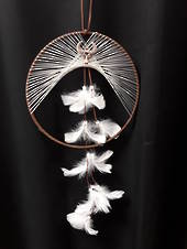 Horned Goddess Dreamcatcher Brown