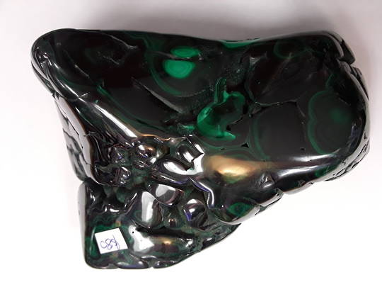 Black and Green Malachite