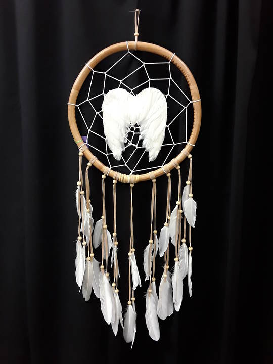 Medium Round Angel Wings Dreamcatcher