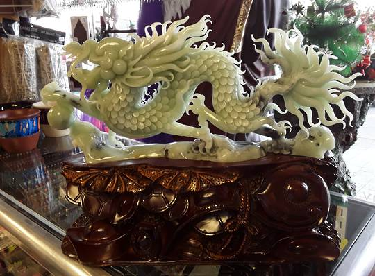 Hand carved New Jade Dragon
