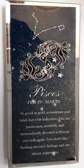 Pisces Starsign Glass Plaque