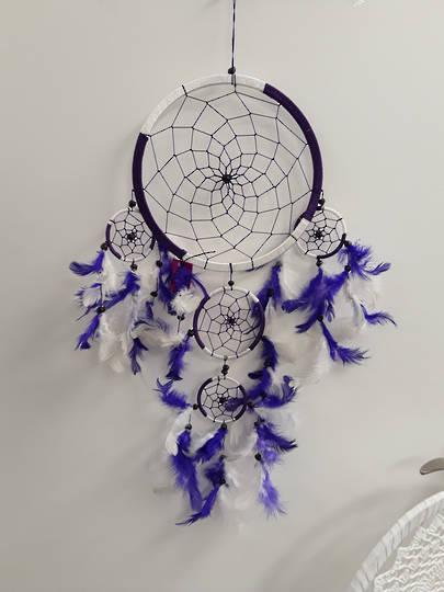White and Purple Dreamcatcher 22cms