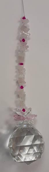 Rose Quartz Crystal Suncatcher (AJ)
