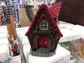 Red Fairy House Cone Incense Holder